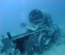 Red Sea Locomotive on Thistlegorm