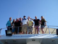 All of us on the M.V. Blue Pearl