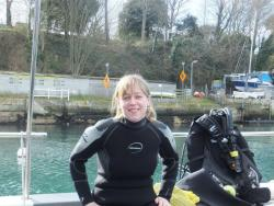 Emma did her Open Water Course in 7 degree water in a wetsuit! What a Force to be reckoned with!
